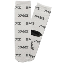 Home State Adult Crew Socks (Personalized)