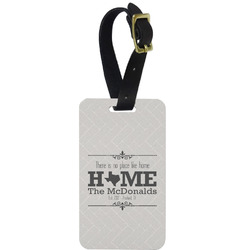 Home State Aluminum Luggage Tag (Personalized)