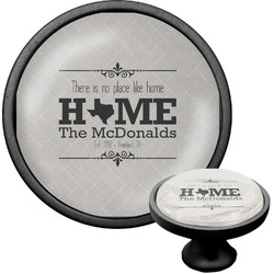 Home State Cabinet Knob (Black) (Personalized)
