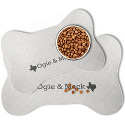 Home State Bone Shaped Dog Food Mat (Personalized)