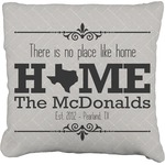 Home State Faux-Linen Throw Pillow (Personalized)