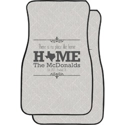 Home State Car Floor Mats (Front Seat) (Personalized)