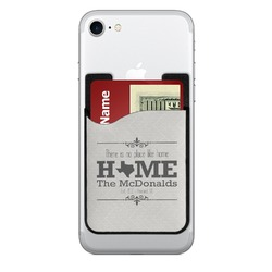 Home State 2-in-1 Cell Phone Credit Card Holder & Screen Cleaner (Personalized)