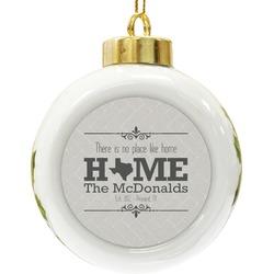 Home State Ceramic Ball Ornament (Personalized)