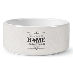 Home State Ceramic Pet Bowl (Personalized)
