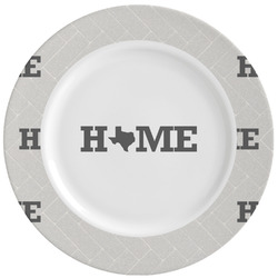 Home State Ceramic Dinner Plates (Set of 4) (Personalized)