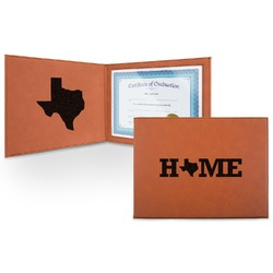 Home State Leatherette Certificate Holder (Personalized)