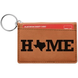 Home State Leatherette Keychain ID Holder (Personalized)