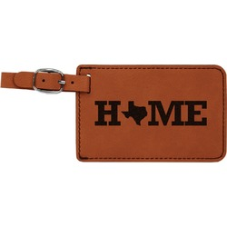 Home State Leatherette Luggage Tag (Personalized)