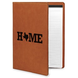 Home State Leatherette Portfolio with Notepad (Personalized)