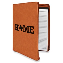Home State Leatherette Zipper Portfolio with Notepad (Personalized)