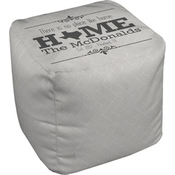 Home State Cube Pouf Ottoman (Personalized)