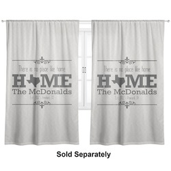 "Home State Curtains - 40""x84"" Panels - Unlined (2 Panels Per Set) (Personalized)"