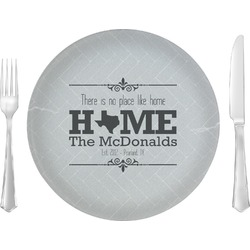 """Home State Glass Lunch / Dinner Plates 10"""" - Single or Set (Personalized)"""