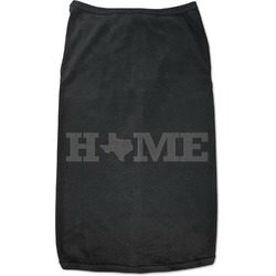 Home State Black Pet Shirt (Personalized)