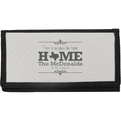 Home State Canvas Checkbook Cover (Personalized)