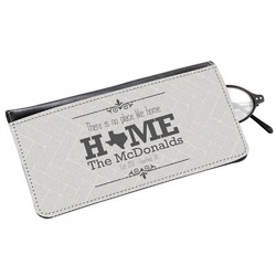 Home State Genuine Leather Eyeglass Case (Personalized)