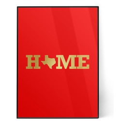 Home State 5x7 Red Foil Print (Personalized)
