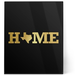 Home State 8x10 Foil Wall Art - Black (Personalized)