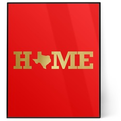 Home State 8x10 Foil Wall Art - Red (Personalized)