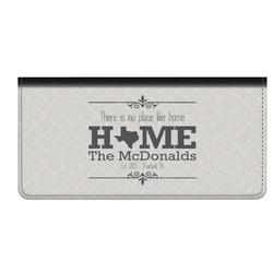Home State Genuine Leather Checkbook Cover (Personalized)