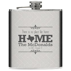 Home State Genuine Leather Flask (Personalized)