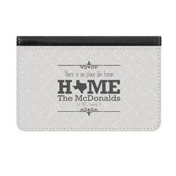 Home State Genuine Leather ID & Card Wallet - Slim Style (Personalized)