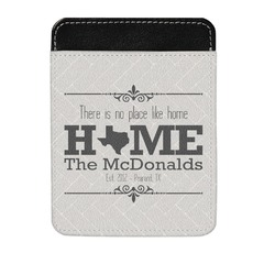 Home State Genuine Leather Money Clip (Personalized)