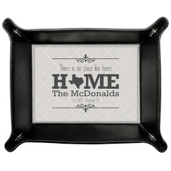 Home State Genuine Leather Valet Tray (Personalized)