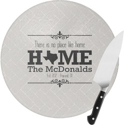 Home State Round Glass Cutting Board (Personalized)