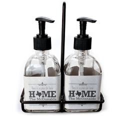 Home State Soap & Lotion Dispenser Set (Glass) (Personalized)