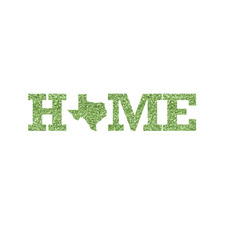 Home State Glitter Iron On Transfer- Custom Sized (Personalized)