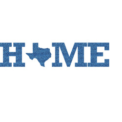 Home State Glitter Sticker Decal - Custom Sized (Personalized)
