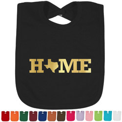 Home State Foil Baby Bibs (Select Foil Color) (Personalized)