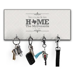 Home State Key Hanger w/ 4 Hooks w/ Name or Text