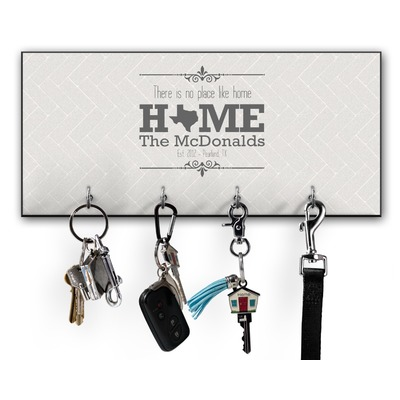 Home State Key Hanger w/ 4 Hooks (Personalized)