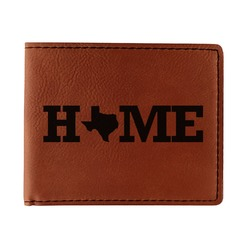 Home State Leatherette Bifold Wallet - Double Sided (Personalized)