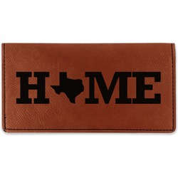 Home State Leatherette Checkbook Holder (Personalized)