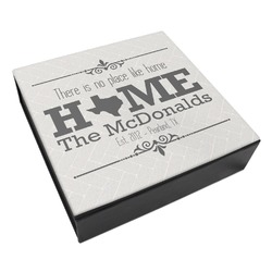 Home State Leatherette Keepsake Box - 8x8 (Personalized)