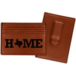Home State Leatherette Wallet with Money Clip (Personalized)
