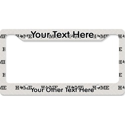 Home State License Plate Frame (Personalized)