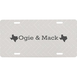 Home State Front License Plate (Personalized)