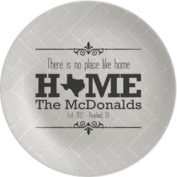 """Home State Melamine Plate - 8"""" (Personalized)"""