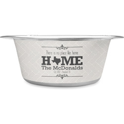 Home State Stainless Steel Pet Bowl - Medium (Personalized)