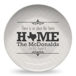 Home State Microwave Safe Plastic Plate - Composite Polymer (Personalized)