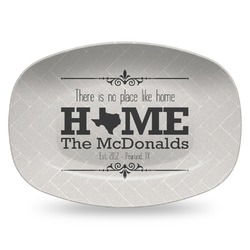 Home State Plastic Platter - Microwave & Oven Safe Composite Polymer (Personalized)