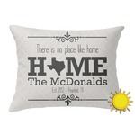 Home State Outdoor Throw Pillow (Rectangular) (Personalized)