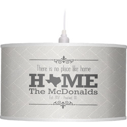 Home State Drum Pendant Lamp (Personalized)