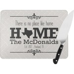 Home State Rectangular Glass Cutting Board (Personalized)