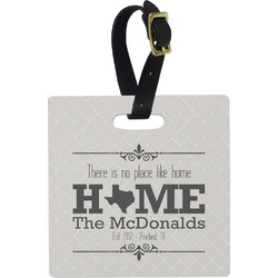Home State Square Luggage Tag (Personalized)